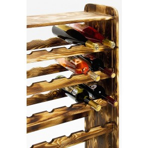 Regál na víno Robon, na 36 lahví, odstín Rustikal, 91x63x27 cm