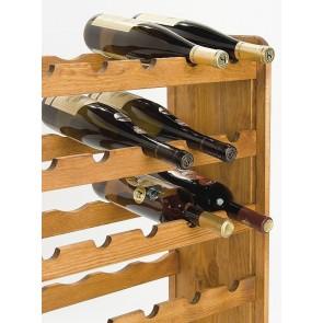 Regál na víno Rutkin, na 42 lahví, odstín Lazur - kaštan, 94x63x27 cm