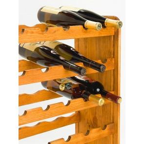 Regál na víno Rutkin, na 42 lahví, odstín Lazur - mahagon, 94x63x27 cm