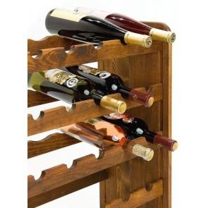Regál na víno Rutkin, na 42 lahví, odstín Lazur - palisandr, 94x63x27 cm