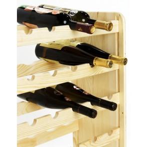 Regál na víno Rutkin, na 42 lahví, provedení Natur, 94x63x27 cm