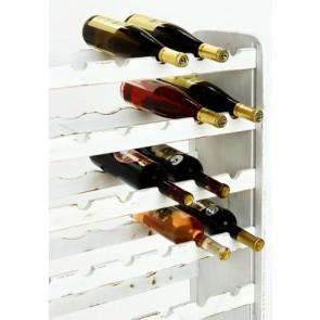 Regál na víno Rutkin, na 42 lahví, odstín Provance - bílý, 94x63x27 cm