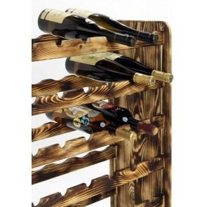 Regál na víno Rutkin, na 42 lahví, odstín Rustikal, 94x63x27 cm