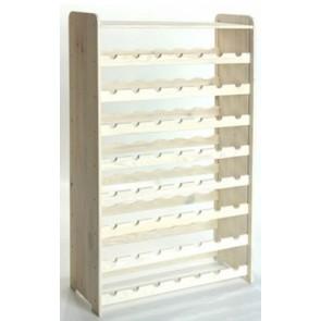 Regál na víno Rack, na 56 lahví, odstín Lazur - bílý, 118x72x27 cm