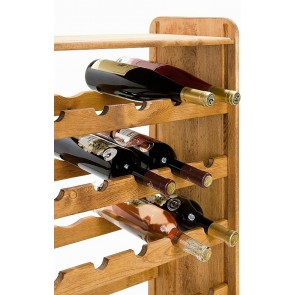 Regál na víno Rack, na 56 lahví, odstín Lazur - kaštan, 118x72x27 cm