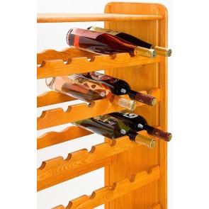 Regál na víno Rack, na 56 lahví, odstín Lazur - mahagon, 118x72x27 cm