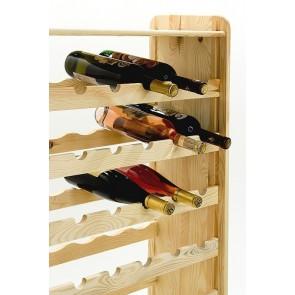 Regál na víno Rack, na 56 lahví, provedení Natur, 118x72x27 cm