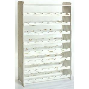 Regál na víno Rack, na 56 lahví, odstín Provance - bílý, 118x72x27 cm