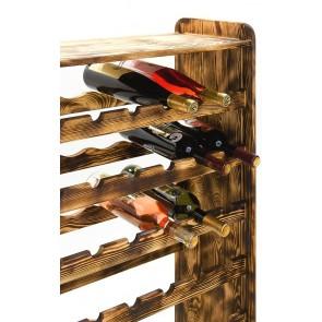 Regal na víno Rack, na 56 lahví, odstín Rustikal, 118x72x27 cm