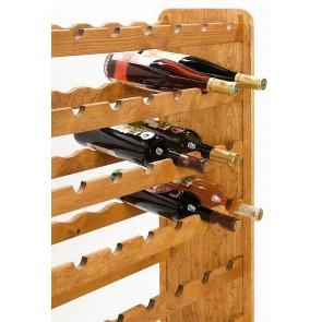 Regál na víno Racon, na 63 lahví, odstín Lazur - kaštan, 118x72x27 cm