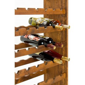 Regál na víno Racon, na 63 lahví, odstín Lazur - palisandr, 118x73x25 cm