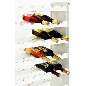 Regál na víno Racon, na 63 lahví, odstín Provance - bílý, 118x72x27 cm