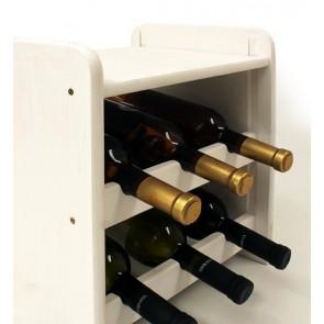 Regál na víno Ricos, na 6 lahví, odstín Lazur - bílý, 38x33x27 cm