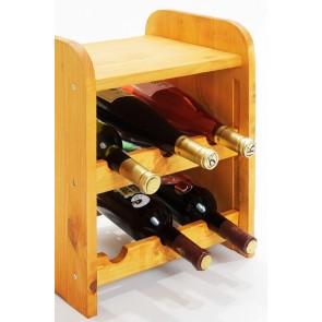 Regál na víno Ricos, na 6 lahví, odstín Lazur - mahagon, 38x33x27 cm