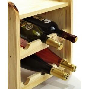 Regál na víno Ricos, na 6 lahví, odstín Natur, 38x33x27 cm