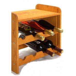 Regál na víno Romman, na 8 lahví, odstín Lazur - mahagon, 38x42x27 cm