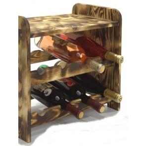 Regál na víno Romman, na 8 lahví, odstín Rustikal, 38x42x27 cm