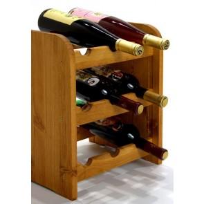 Regál na víno Riccar, na 9 lahví, odstín Lazur - kaštan, 38x33x27 cm