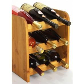 Regál na víno Riccar, na 9 lahví,odstín Lazur - mahagon, 38x33x27 cm