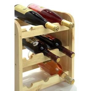 Stojan na víno Riccar, na 9 lahví, odstín Natur, 38x33x27 cm