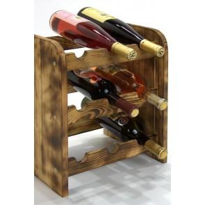 Regál na víno Riccar, na 9 lahví,odstín Rustikal, 38x33x27 cm