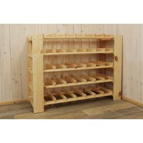 Stojan pro uskladnění vína, na 35 lahví, natur