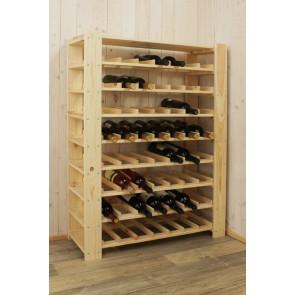 Stojan pro uskladnění vína, na 56 lahví, natur, s policí