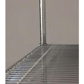Regál Sirius chromovaný kovový 91x61x36 cm, 4 police