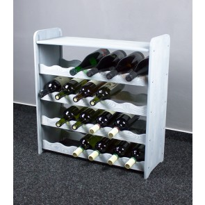 Regál na víno na 24 lahví, světle šedý, 65x63x27 cm