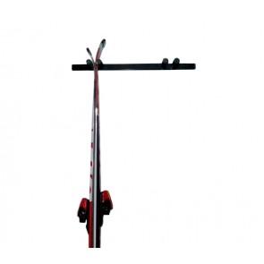 Držák na lyže, 2 místný, svislý, černý