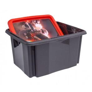 Plastový box Star Wars, 24 l, černý s víkem, 41x34x22 cm