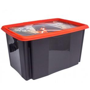 Plastový box Star Wars, 45 l, černý s víkem, 55x39,5x29,5 cm