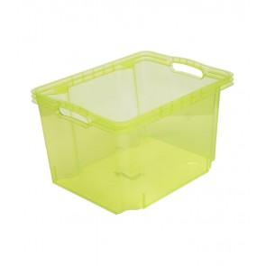 Plastový box Multi M, svěží zelený, bez víka, 35x27x21 cm