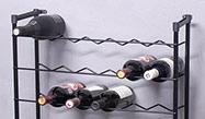 Kovové stojany na víno